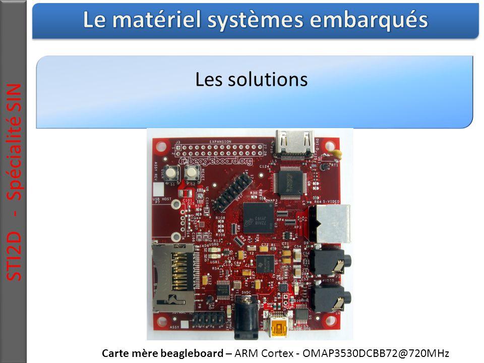 Les solutions STI2D - Spécialité SIN Carte mère beagleboard – ARM Cortex - OMAP3530DCBB72@720MHz