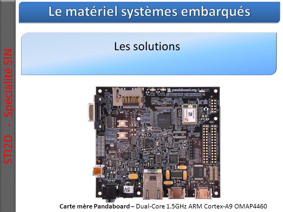 Les solutions STI2D - Spécialité SIN Carte mère Pandaboard – Dual-Core 1.5GHz ARM Cortex-A9 OMAP4460