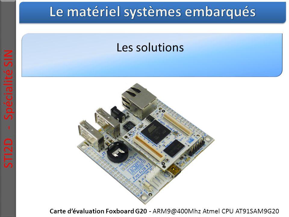 Les solutions STI2D - Spécialité SIN Carte d'évaluation Foxboard G20 - ARM9@400Mhz Atmel CPU AT91SAM9G20