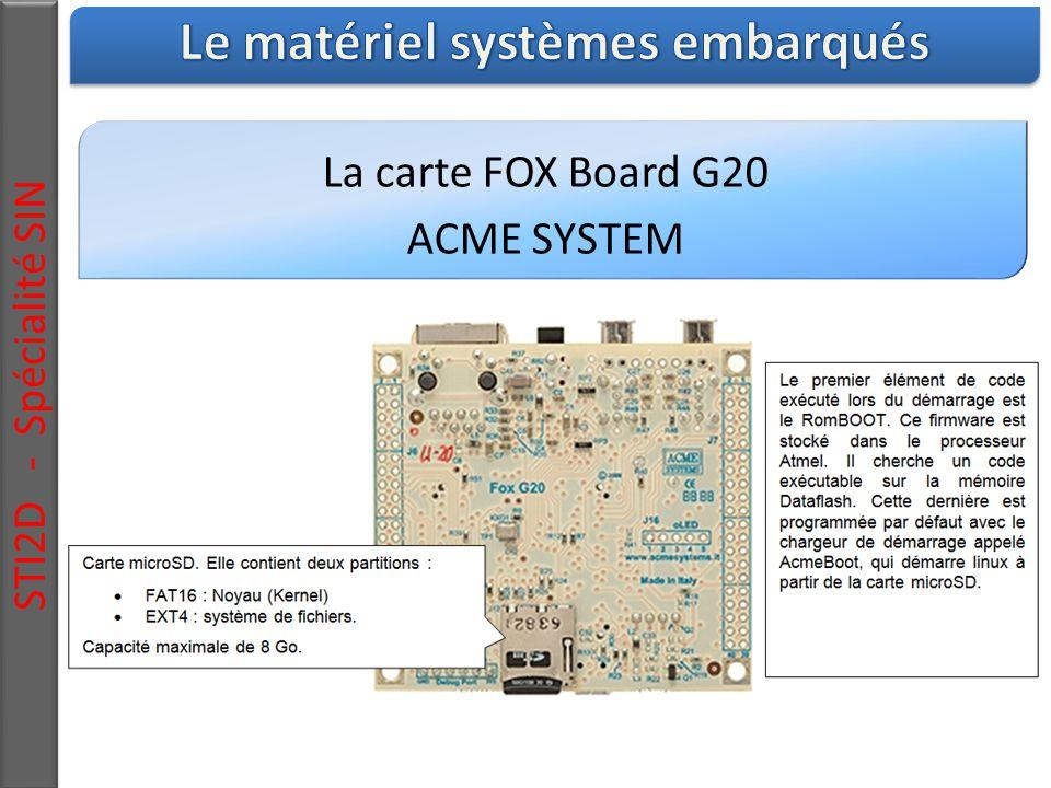La carte FOX Board G20 ACME SYSTEM STI2D - Spécialité SIN