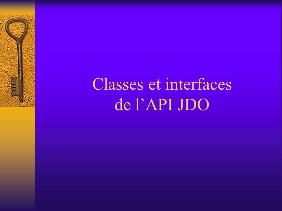 Héritage et classes persistantes  Si on a une hiérarchie d'héritage, une classe peut être persistante ou non, indépendamment des autres classes de l'arborescence (classes dérivées ou ancêtres)  Tous les champs persistants le restent dans les classes dérivées persistantes