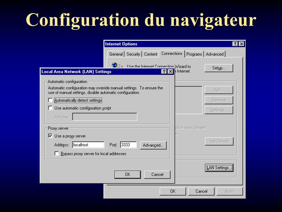 Configuration du navigateur