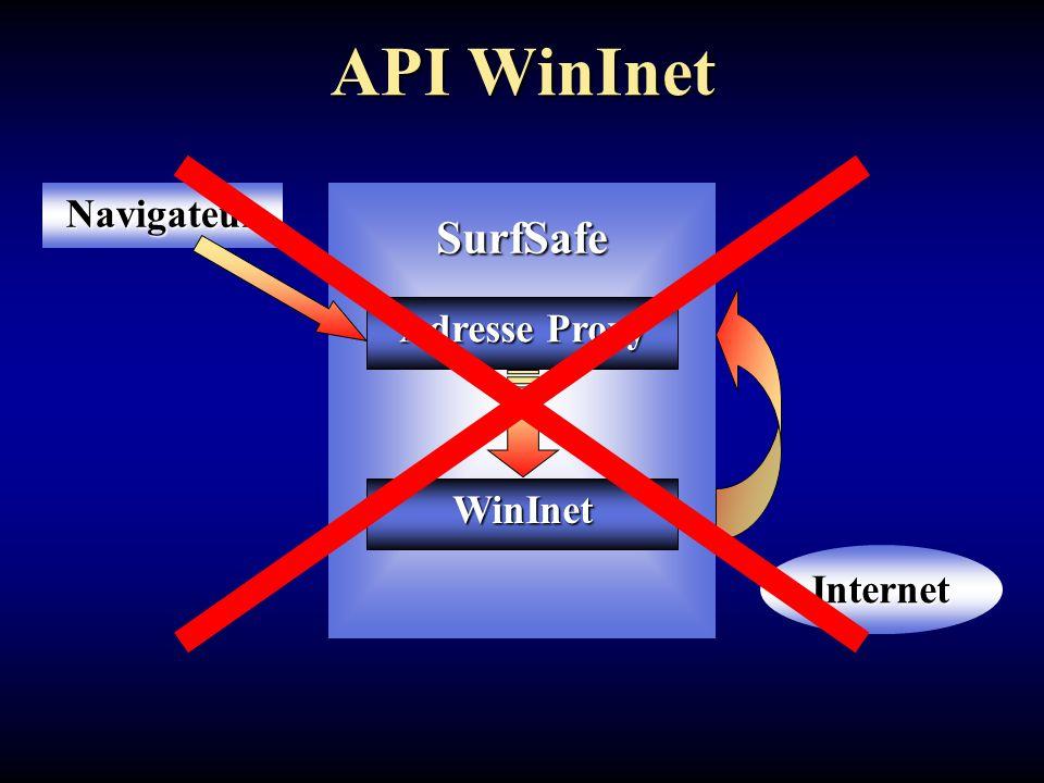 API WinInet SurfSafeNavigateur Adresse Proxy Internet WinInet