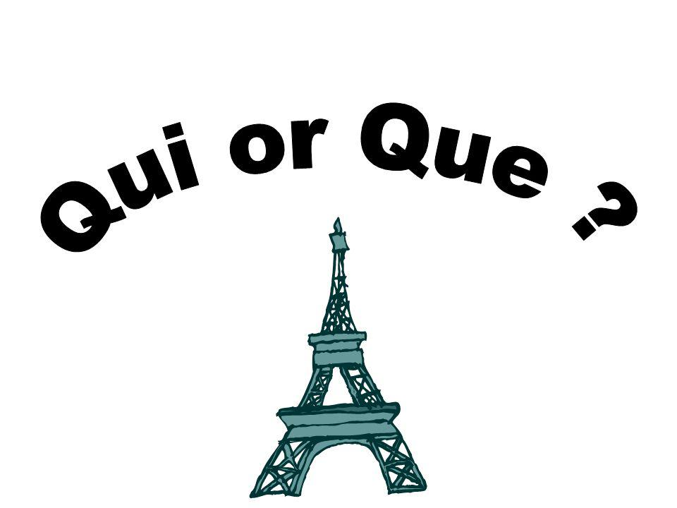 Qui and que can both be translated as 'that' or 'which' or 'who'.