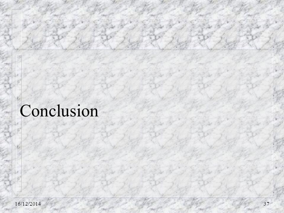 Conclusion 16/12/201437