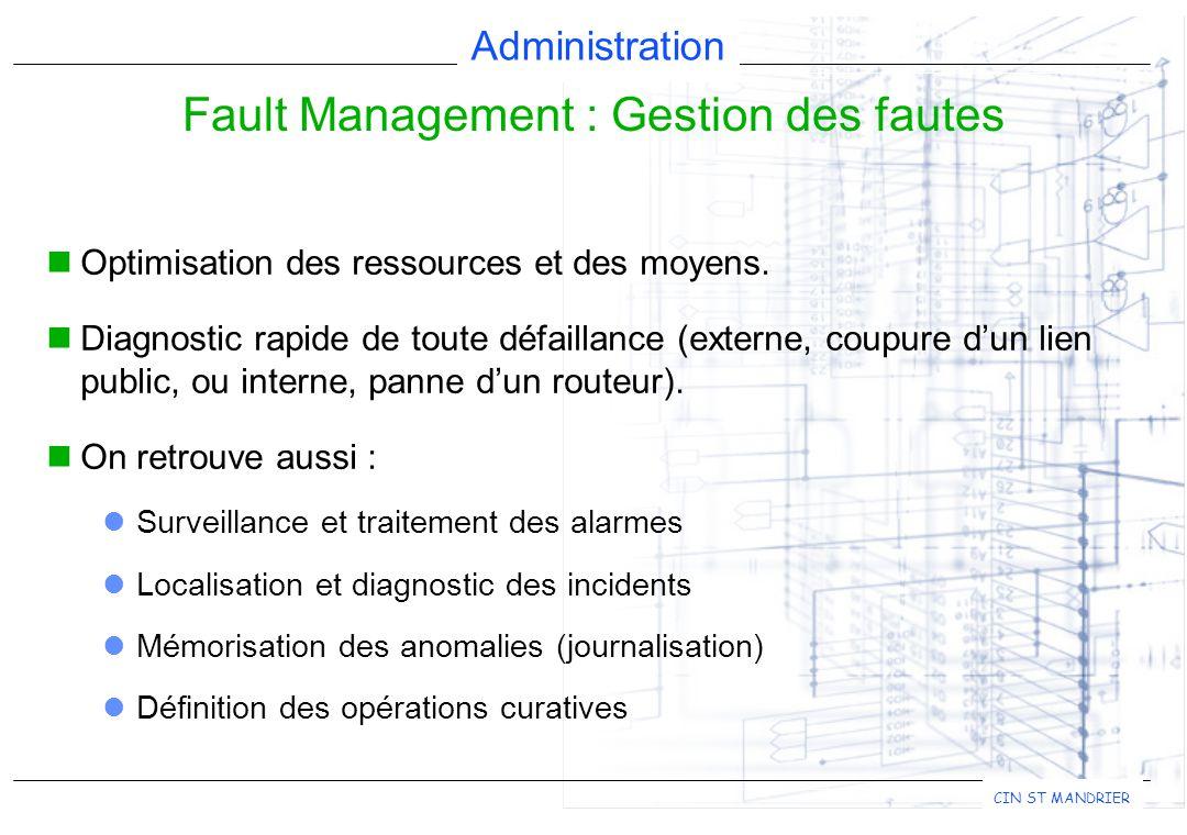 Administration CIN ST MANDRIER Optimisation des ressources et des moyens.