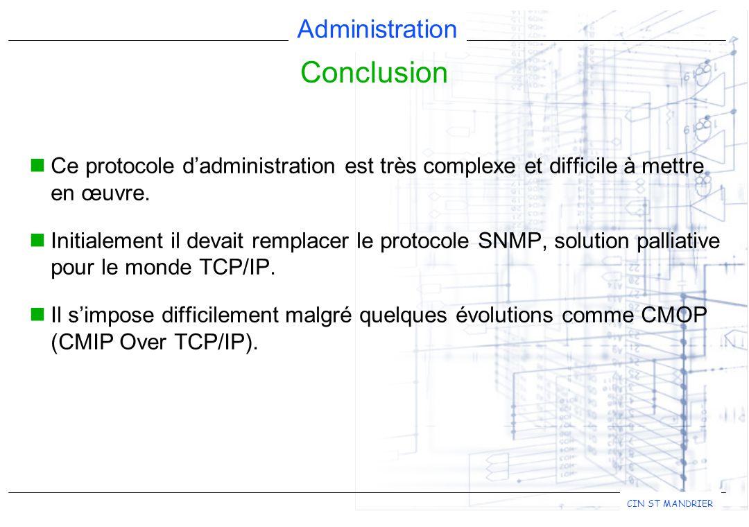 Administration CIN ST MANDRIER Ce protocole d'administration est très complexe et difficile à mettre en œuvre.