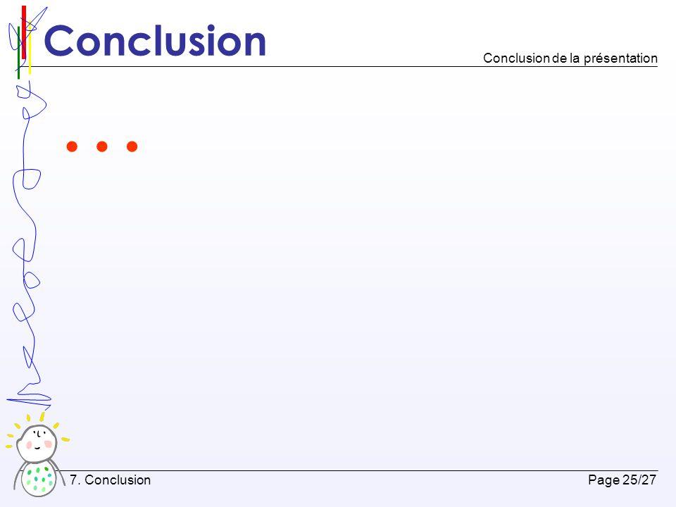 Bibliographie Page 26/27 8.Bibliographie Références utilisées par la présentation 1.