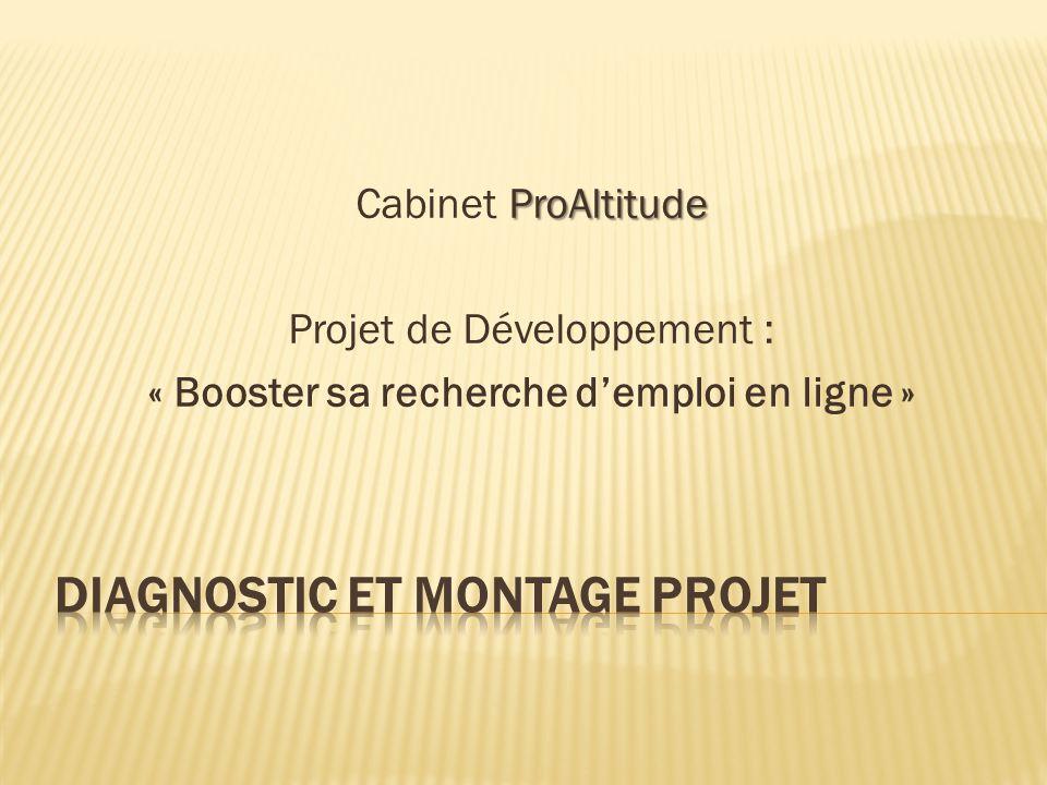 ProAltitude, un cabinet spécialisé dans le conseil en orientation professionnelle et en recherche d'emploi, souhaite développer son activité à distance pour augmenter son chiffre d'affaire notamment.
