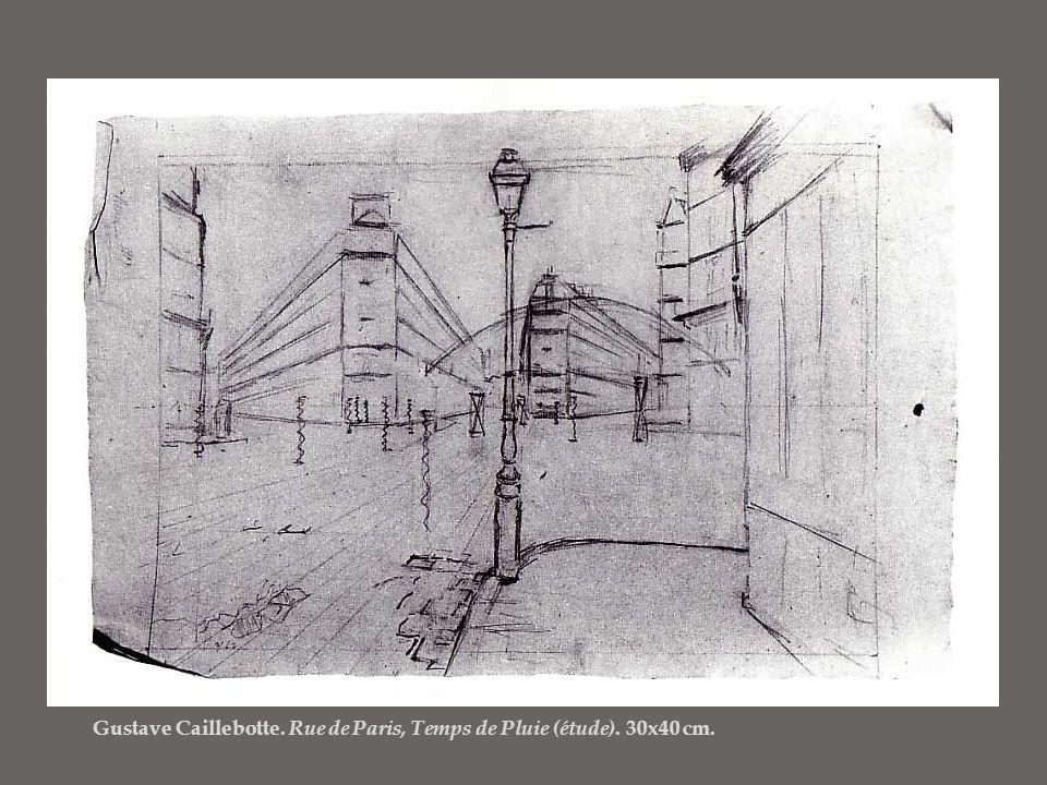 Gustave Caillebotte. Rue de Paris, Temps de Pluie (étude). 30x40 cm.