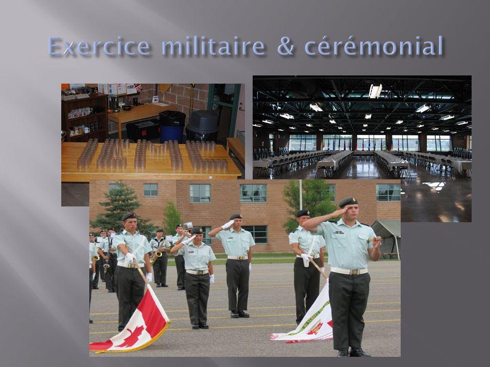 Ce cours a pour but de développer: Le leadership L'estime de soi L'art oratoire La résolution de problèmes L'exercice militaire de cérémonie