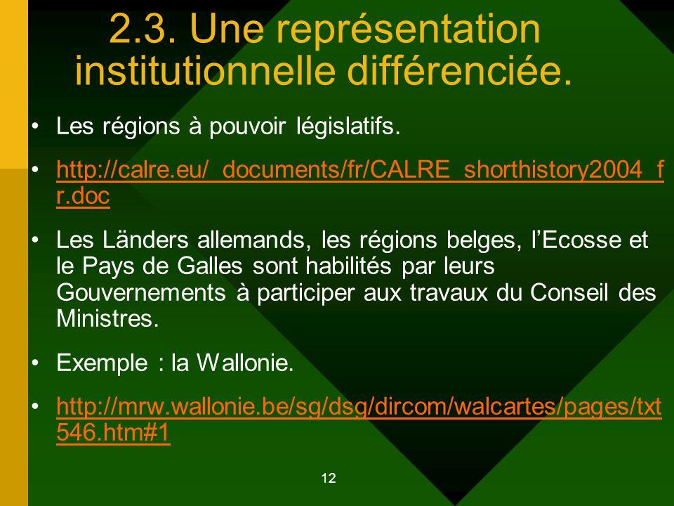 13 Quel place institutionnelle pour les Régions d'Europe .