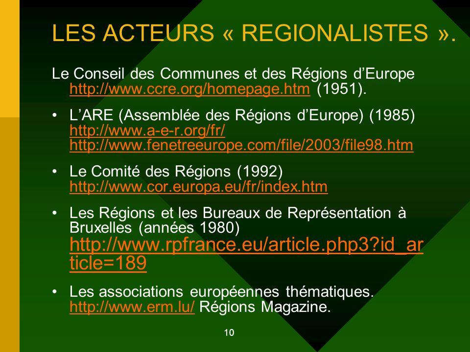 11 Les acteurs « souverainistes » L'Union européenne.