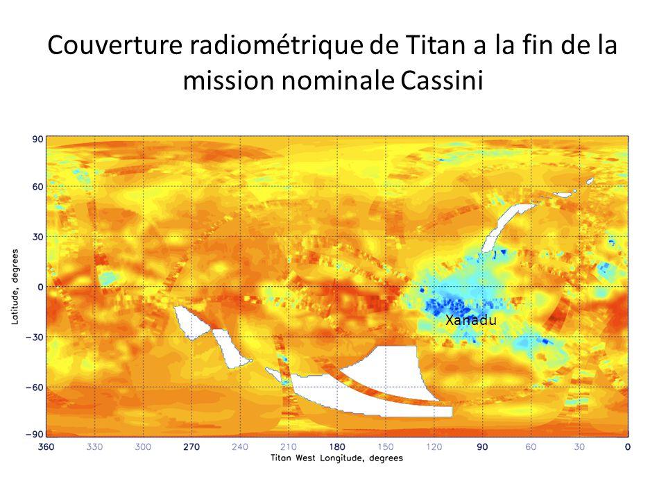 Couverture radiométrique de Titan a la fin de la mission nominale Cassini Xanadu