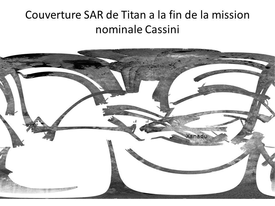 Couverture SAR de Titan a la fin de la mission nominale Cassini Xanadu