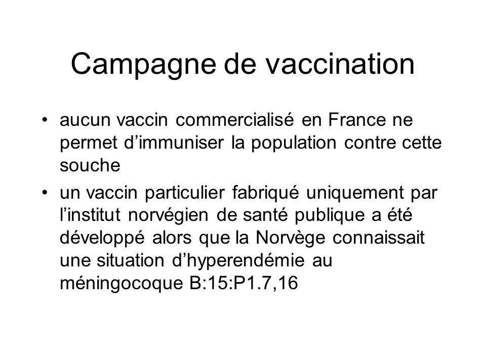 Campagne de vaccination aucun vaccin commercialisé en France ne permet d'immuniser la population contre cette souche un vaccin particulier fabriqué un