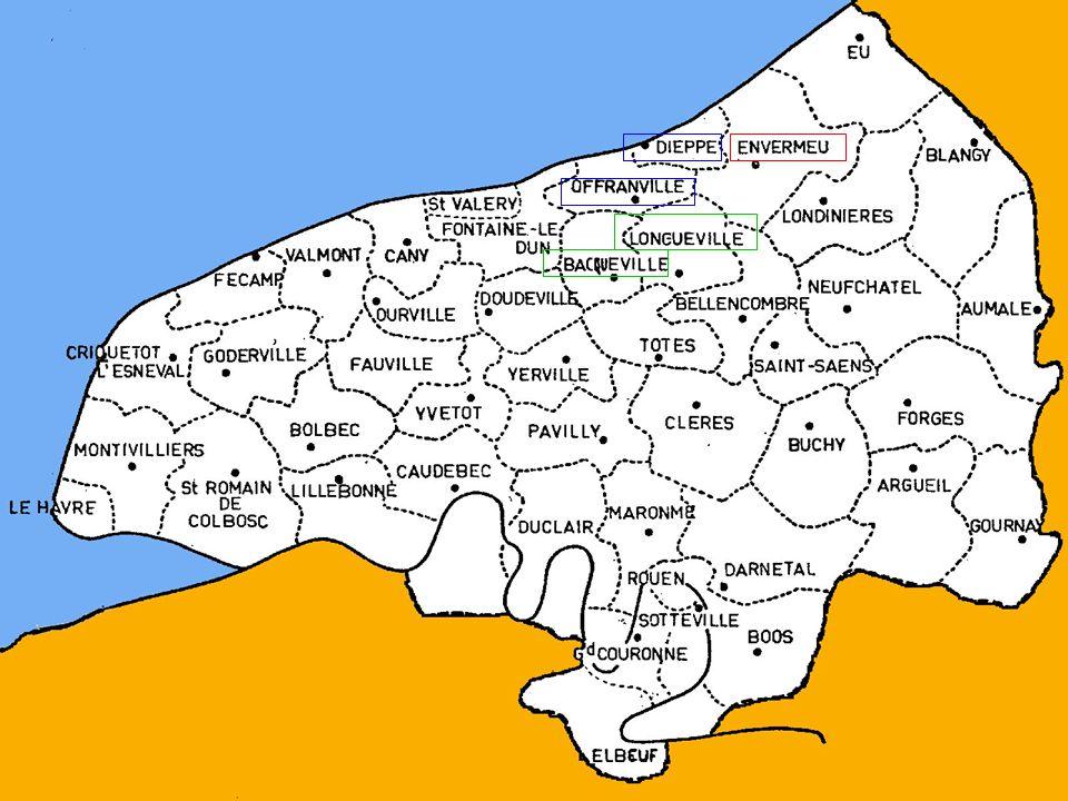 Géographie Zone 1 (92 773 habitants) : cantons de Bacqueville-en-Caux, Dieppe-Est, Dieppe- Ouest, Envermeu, Longueville-sur-Scie et Offranville.