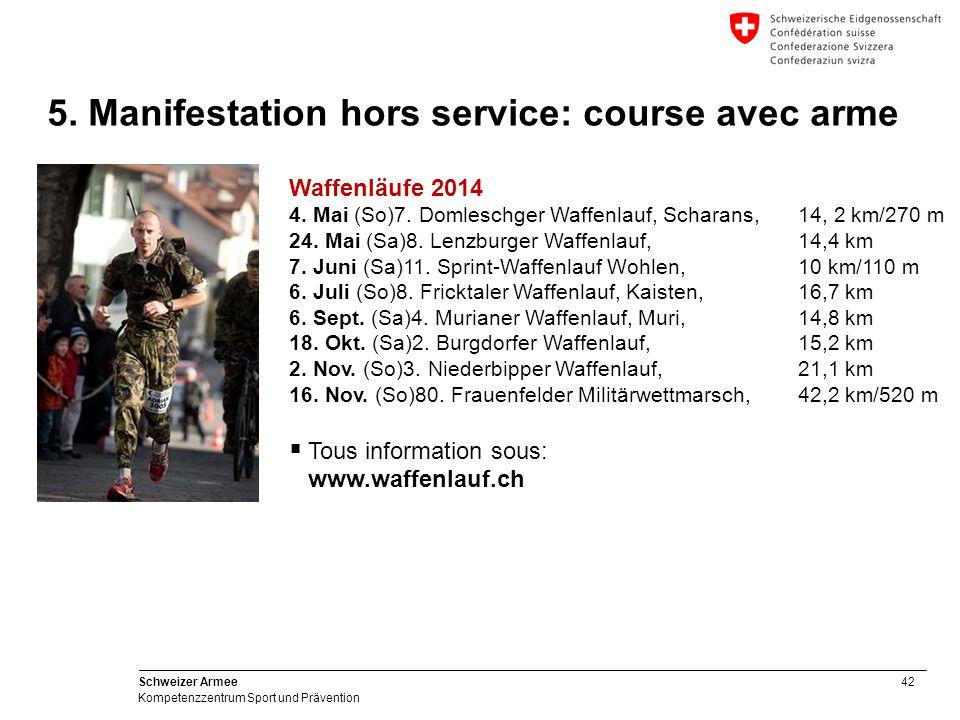 42 Schweizer Armee Kompetenzzentrum Sport und Prävention Waffenläufe 2014 4.