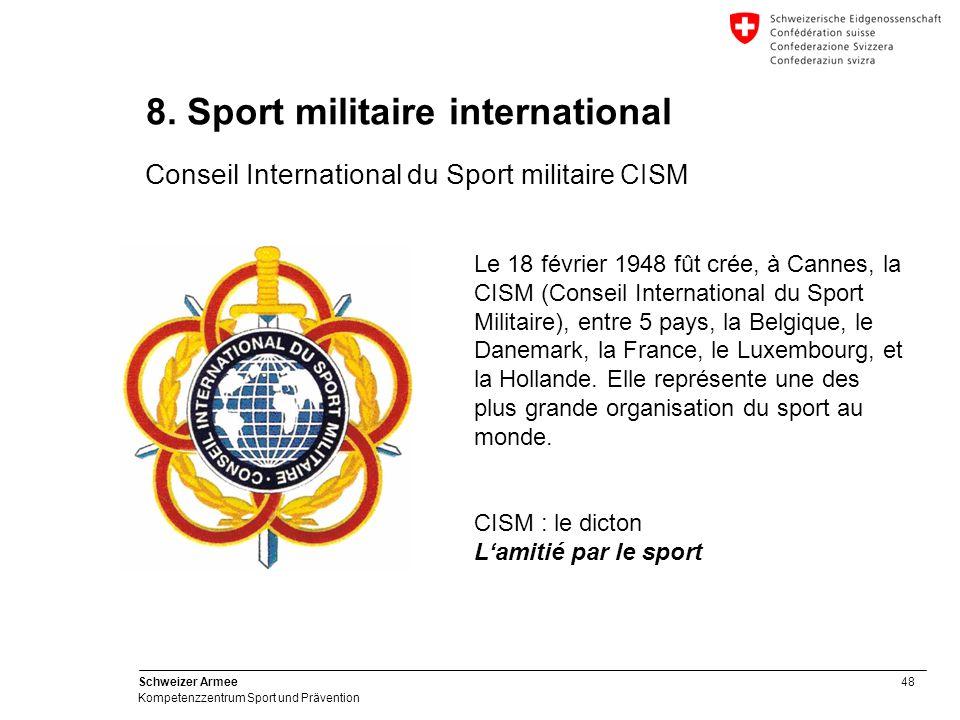 48 Schweizer Armee Kompetenzzentrum Sport und Prävention 8.