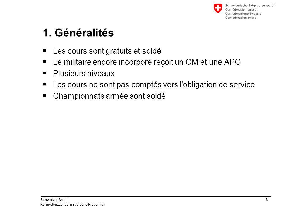 6 Schweizer Armee Kompetenzzentrum Sport und Prävention 1.
