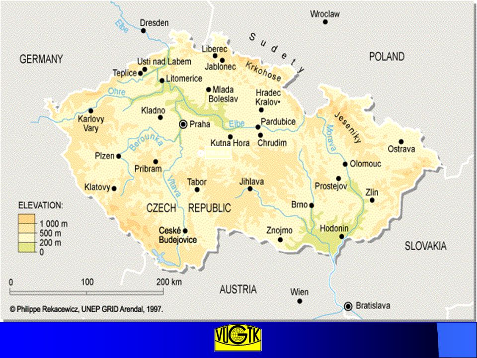 Bref historique du cadastre en République Tchèque Entre 1994 et 1998 tous les fichiers d'informations littérales ont été numérisés.