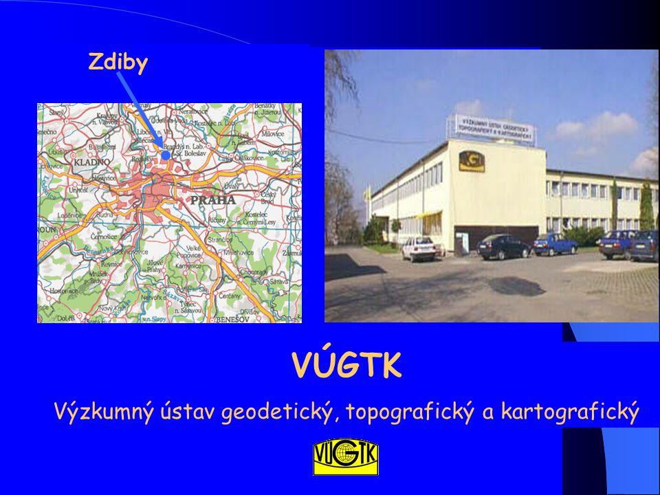 La place de l'Institut VÚGTK dans l'administration du cadastre Le Bureau tchèque de géodésie, de topographie et du cadastre ( ČÚZK ) est une administration autonome et son président est responsable seulement devant le Vice-Premier Ministre tchèque VÚGTK est en charge des travaux de recherche sur la numérisation du cadastre en République Tchèque et du développement de logiciels de cartographie