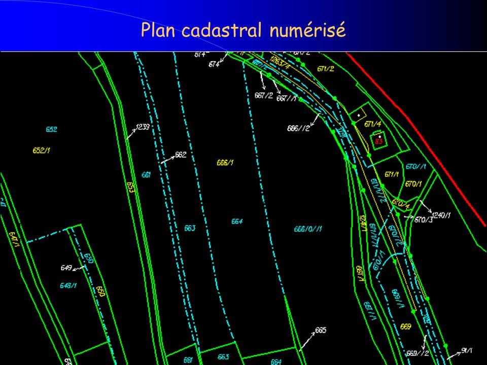 Plan cadastral numérisé