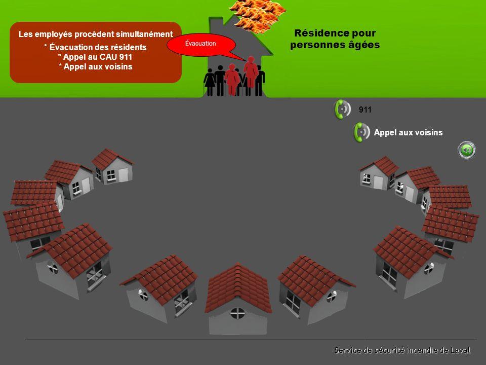 Service de sécurité incendie de Laval Début d'incendie et déclenchement du système d'alarme Résidence pour personnes âgées
