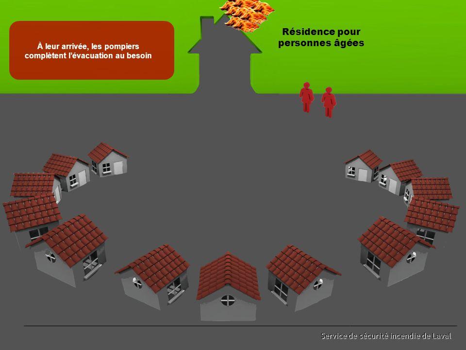 Service de sécurité incendie de Laval Les voisins communiquent au CAU 911 pour transmettre le dénombrement Résidence pour personnes âgées 911