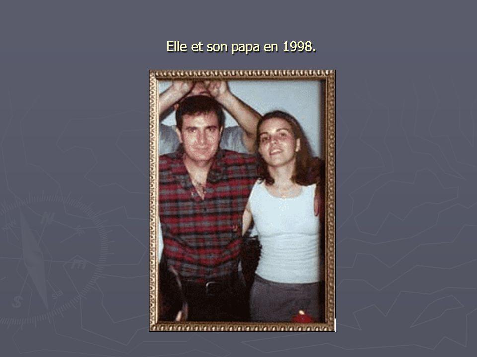 Elle et son papa en 1998.