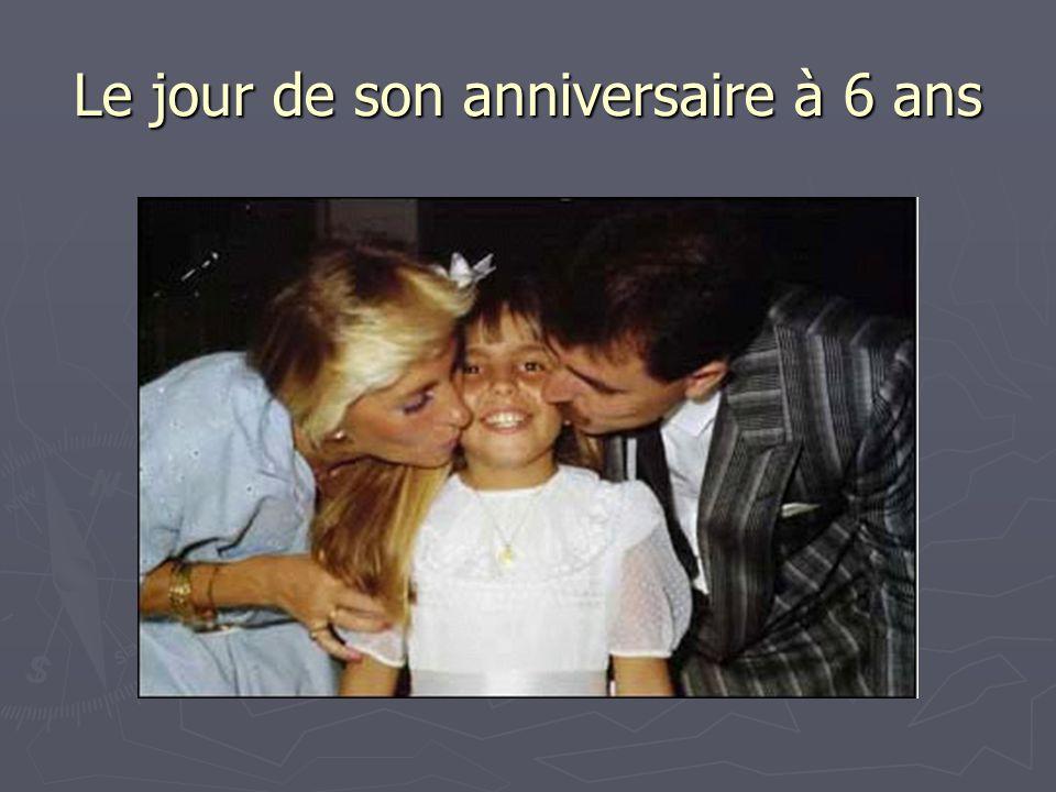 Le jour de son anniversaire à 6 ans