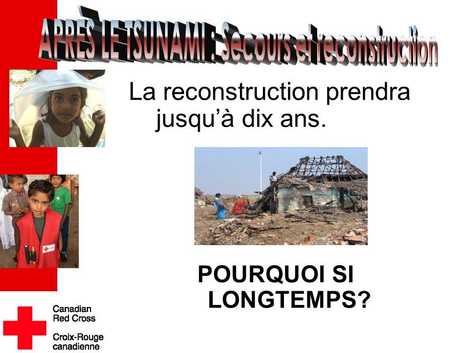 La reconstruction prendra jusqu'à dix ans. POURQUOI SI LONGTEMPS .