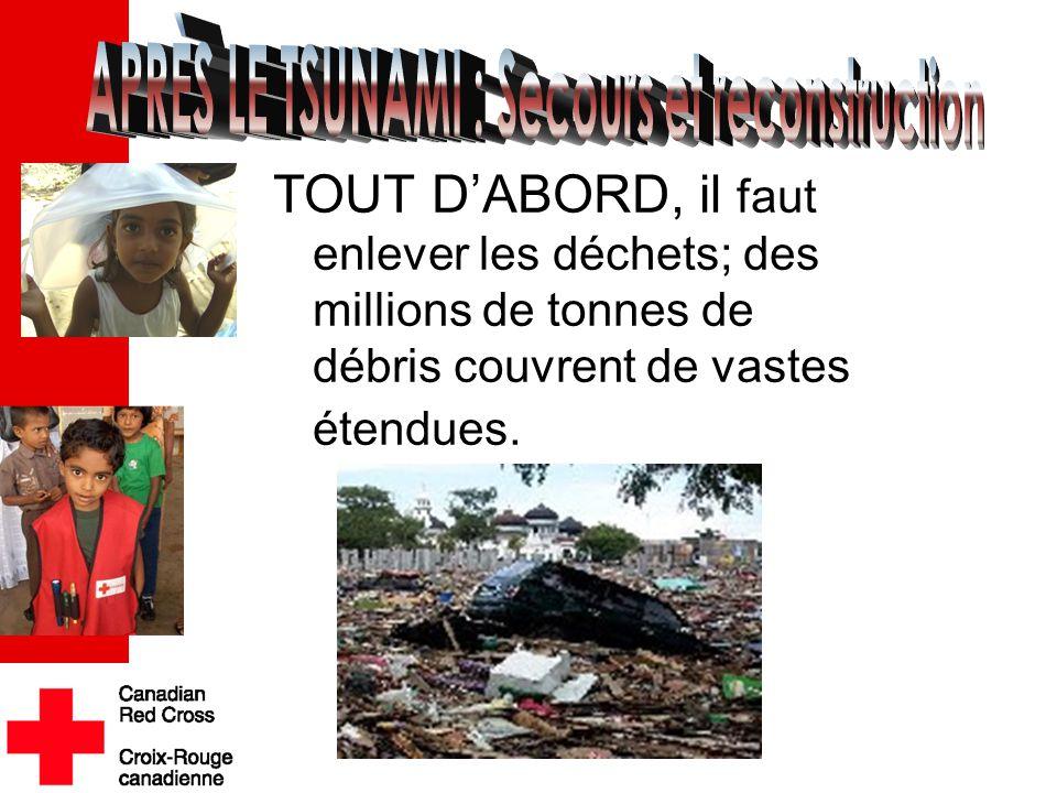 TOUT D'ABORD, il faut enlever les déchets; des millions de tonnes de débris couvrent de vastes étendues..