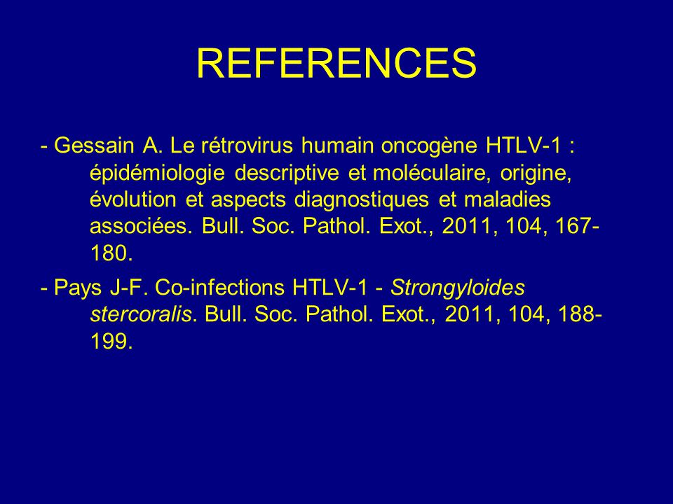 REFERENCES - Gessain A.