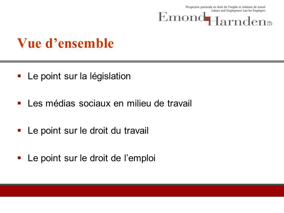 Le point sur la législation Partie 1