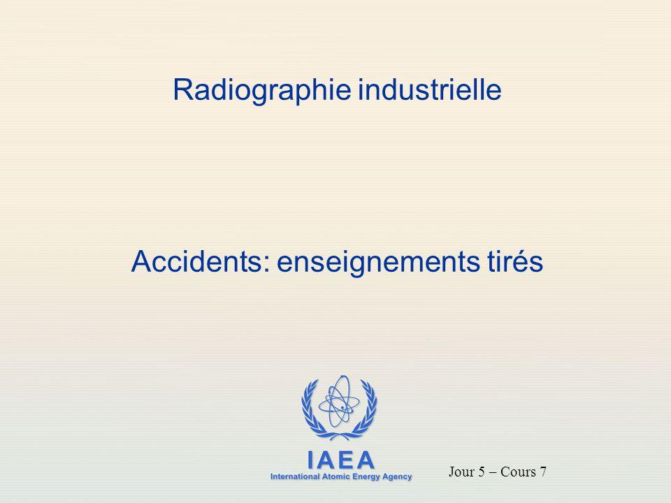 IAEA Objectifs Se familiariser avec les accidents de la radiographie industrielle typiques Comprendre les facteurs contributifs spécifiques Soyez conscient des enseignements tirés des accidents passés 2
