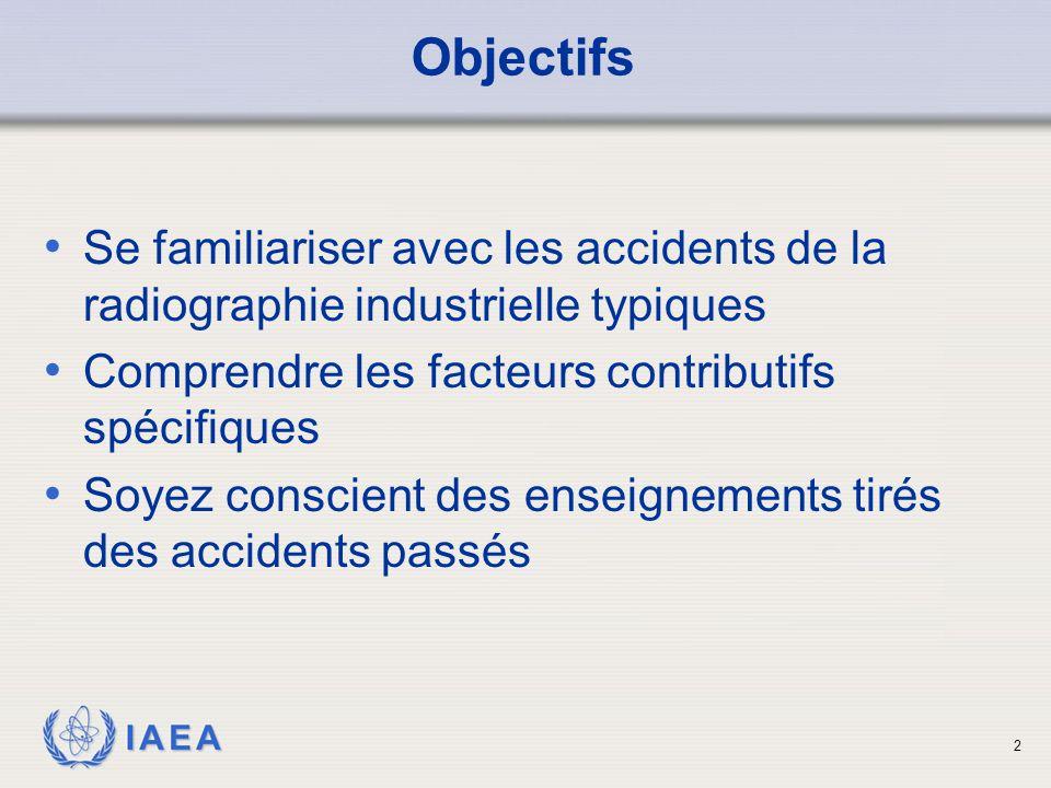 IAEA Contenu Etudes de cas Conséquence de chaque accident Enseignements tirés 3