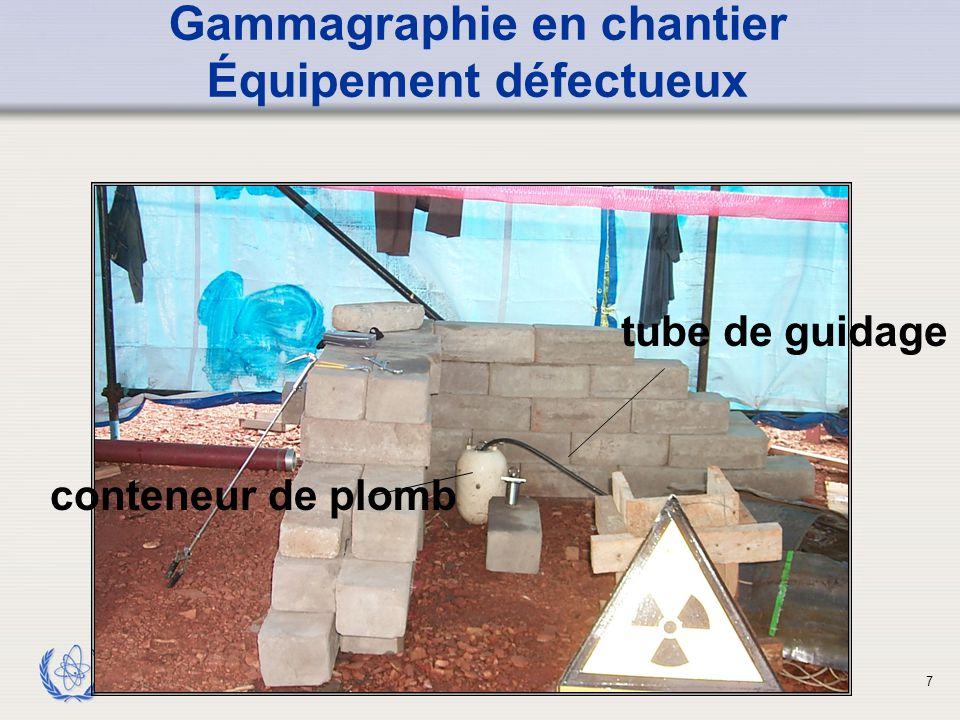 IAEA ACCIDENT Les appareils de mesure n'ont pas été utilisés Défaillance de l'équipement Les procédures n'ont pas été suivies Contrôles réglementaires absents ou mal adaptés Programme de protection et de sûreté insuffisant ou absent Formation insuffisante ou inexistante Origines des accidents