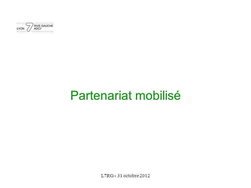 L7RG - 31 octobre 2012 Partenariat mobilisé