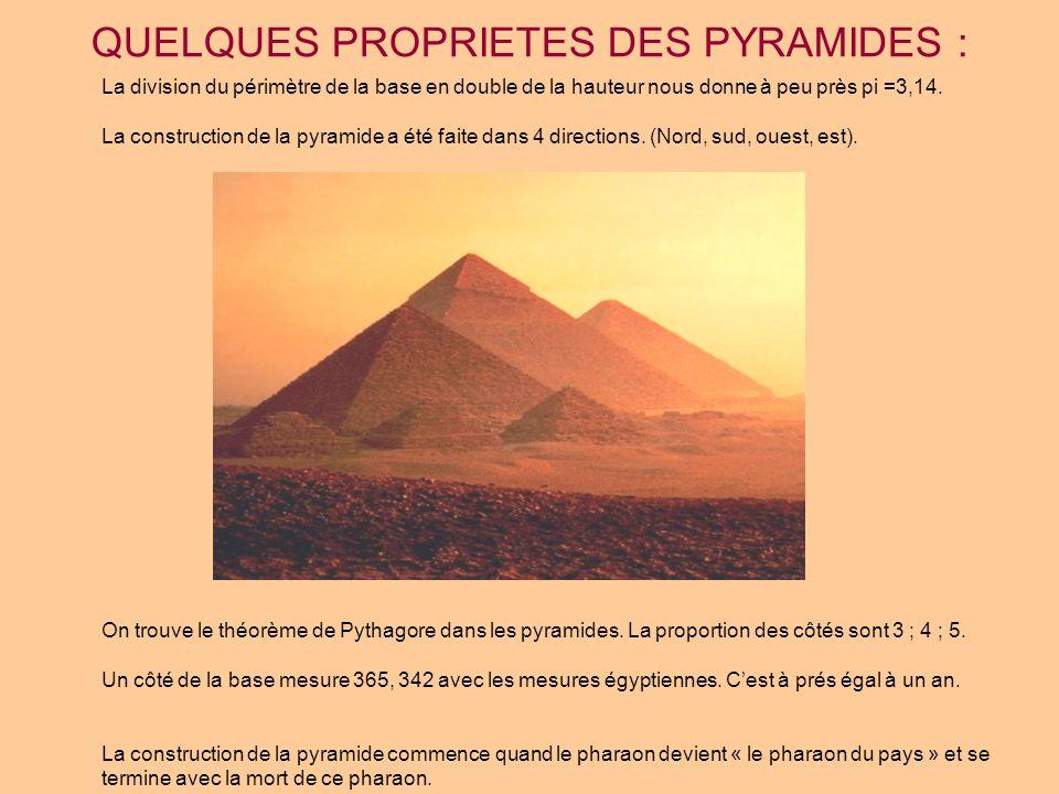 POURQUOI LES PYRAMIDES ONT ETE CONSTRUITES EN FORME DE LA PYRAMIDE.