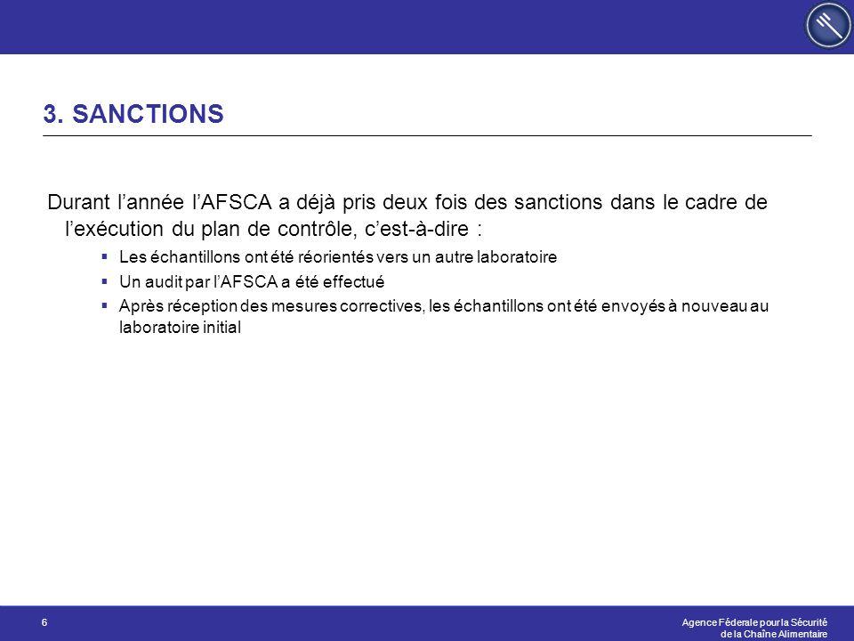 Agence Féderale pour la Sécurité de la Chaîne Alimentaire 6 3.