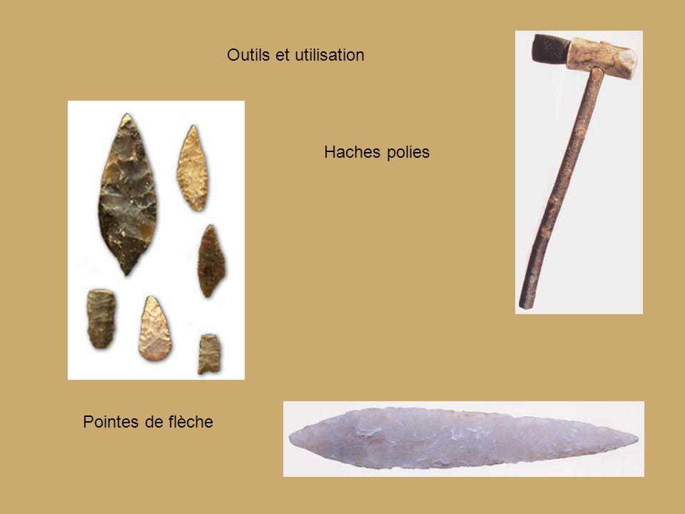 Outils et utilisation Pointes de flèche Haches polies