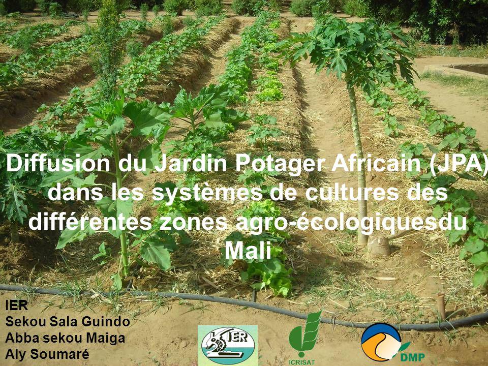 Diffusion du Jardin Potager Africain (JPA) dans les systèmes de cultures des différentes zones agro-écologiquesdu Mali IER Sekou Sala Guindo Abba seko