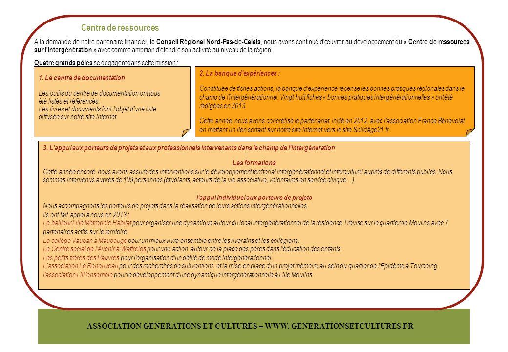 ASSOCIATION GENERATIONS ET CULTURES – WWW.GENERATIONSETCULTURES.FR 4.