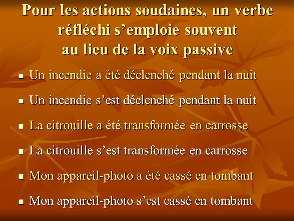 Si vous avez le choix, préférez la voix active Le stéthoscope a été inventé par Laennec Le stéthoscope a été inventé par Laennec Laennec a inventé le stéthoscope Laennec a inventé le stéthoscope Le radium a été découvert par Pierre et Marie Curie Le radium a été découvert par Pierre et Marie Curie Pierre et Marie Curie ont découvert le radium Pierre et Marie Curie ont découvert le radium Le prix Nobel a été décerné à Luc Montagnier Le prix Nobel a été décerné à Luc Montagnier Luc Montagnier a reçu le prix Nobel Luc Montagnier a reçu le prix Nobel