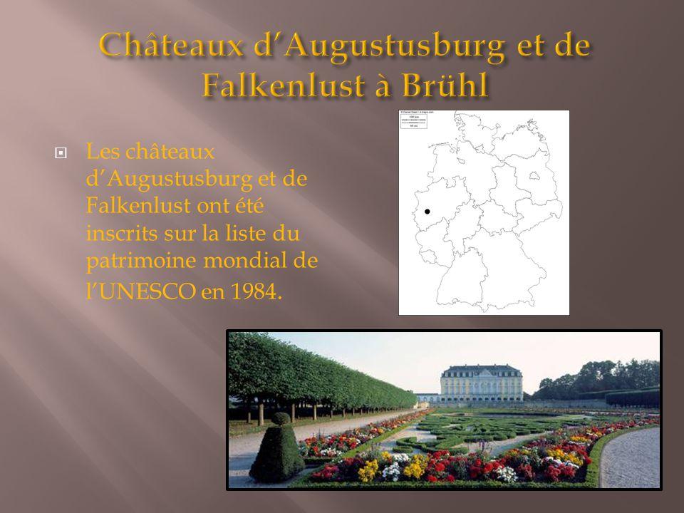 Les châteaux d'Augustusburg et de Falkenlust ont été inscrits sur la liste du patrimoine mondial de l'UNESCO en 1984.