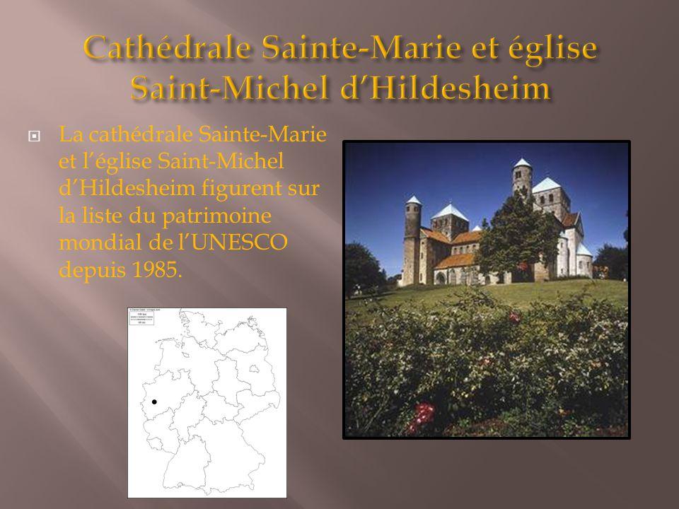  La cathédrale Sainte-Marie et l'église Saint-Michel d'Hildesheim figurent sur la liste du patrimoine mondial de l'UNESCO depuis 1985.
