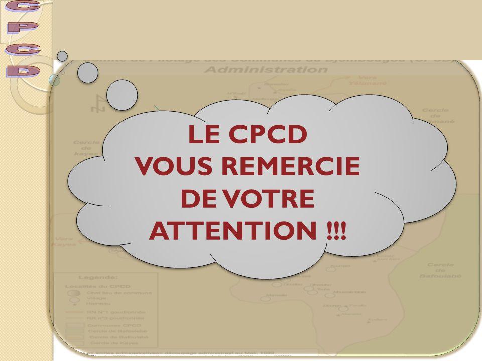 LE CPCD VOUS REMERCIE DE VOTRE ATTENTION !!! LE CPCD VOUS REMERCIE DE VOTRE ATTENTION !!!