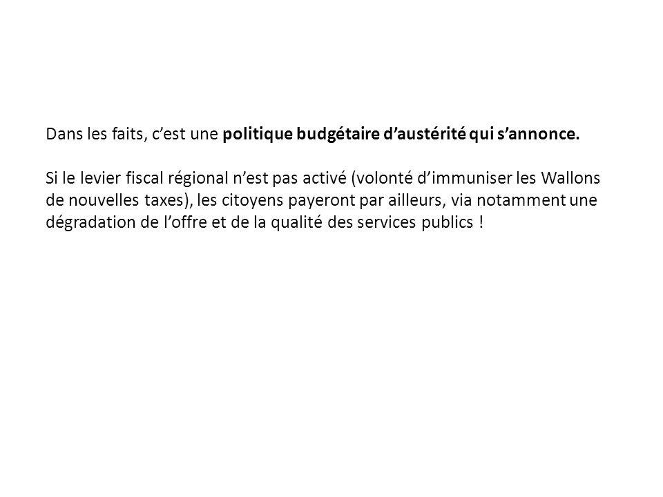 Dans les faits, c'est une politique budgétaire d'austérité qui s'annonce.