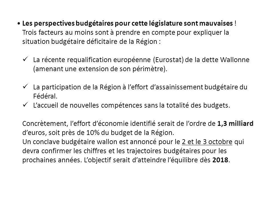 Les perspectives budgétaires pour cette législature sont mauvaises .